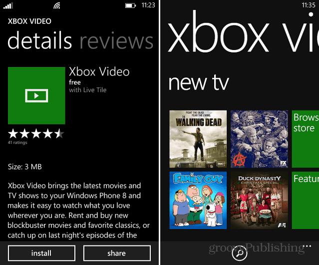 Xbox Video WP8