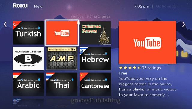 YouTube Channel Roku