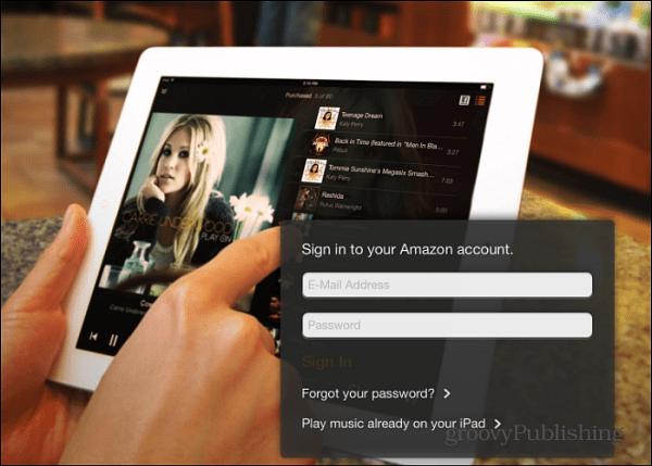 iPad Amazon Cloud Player