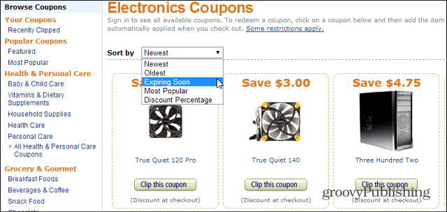Amazon discount coupons for electronics