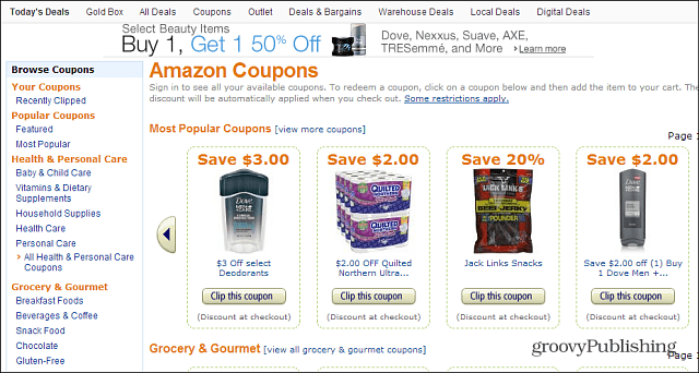 Amazon Instant Coupons