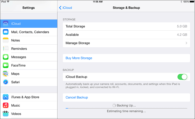 How to make icloud backup on mac