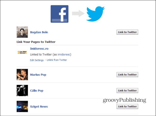 Facebook to Twitter list