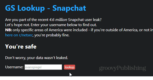 GS Lookup