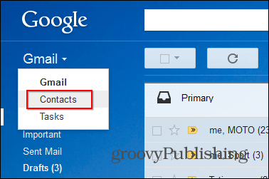 Gmail star contacts desktop