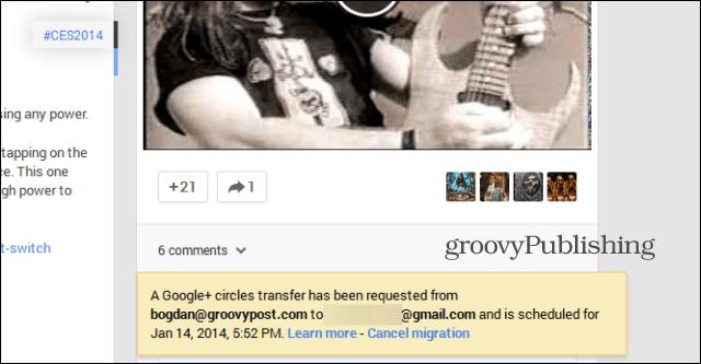 Merge Google  accounts cancel