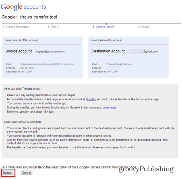Merge Google  accounts final