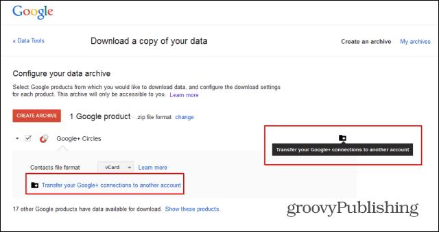 Merge Google  accounts transfer