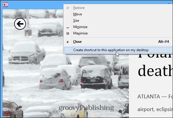 Pin to Desktop