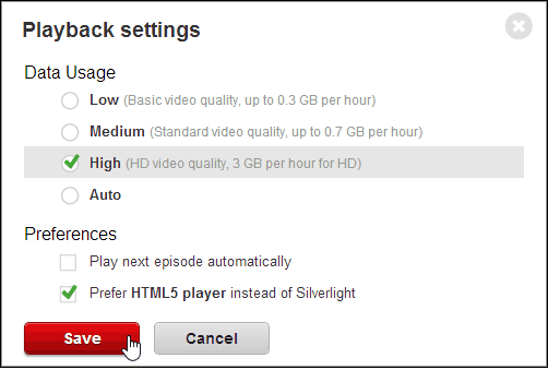 Playback Settings