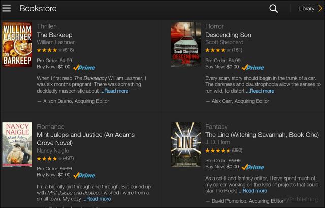 Select Free Amazon eBook