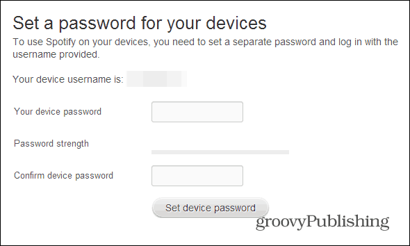 Spotify profile set a password final