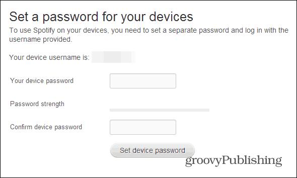 Spotify profile set a password final
