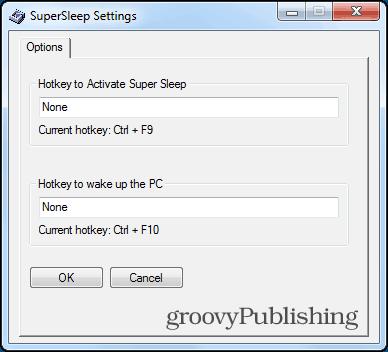 supersleep settings set hotkeys