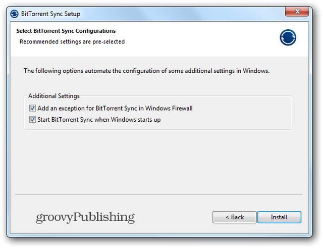 BTSync install 2