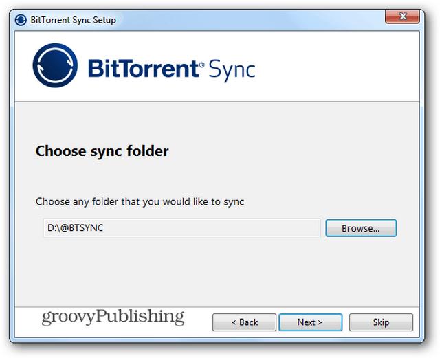 BTSync install folder