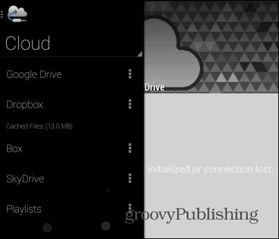 Beat cloud player cloud menu