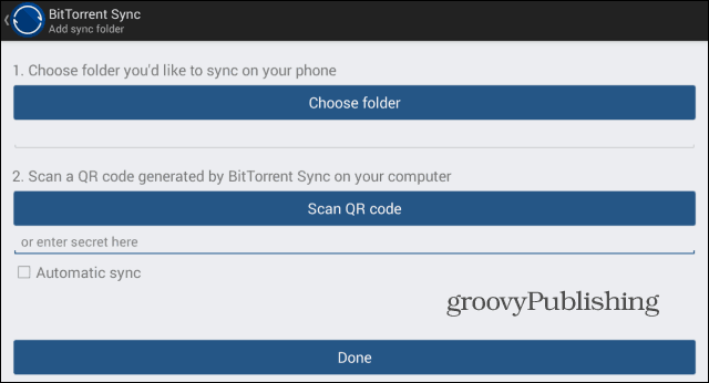 BitTorrent Sync scan Android