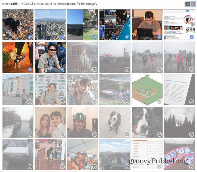 Facebook Look Back edit photo grids