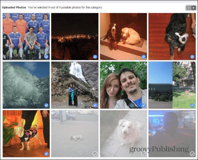 Facebook Look Back edit uploaded photos