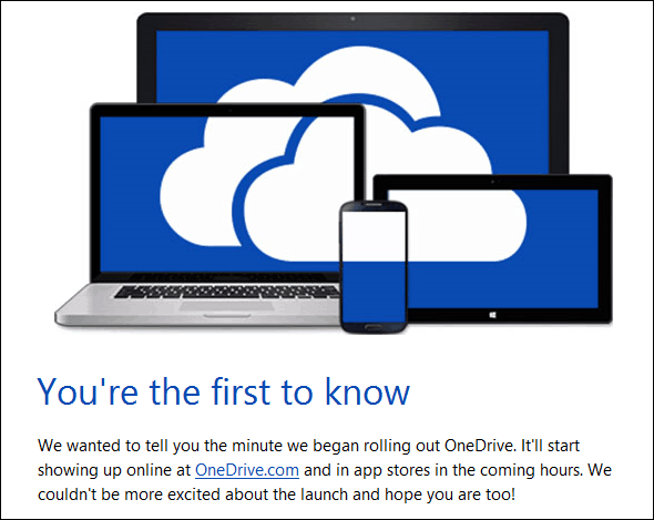 OneDrive Email