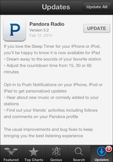 Pandora Update