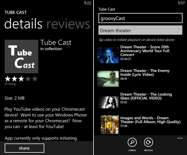 Tube Cast for Windows Phone 8