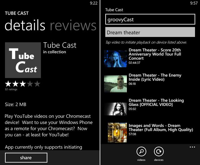 Tube Cast for Windows Phone 8