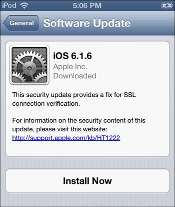 iOS 6.1.6 Update