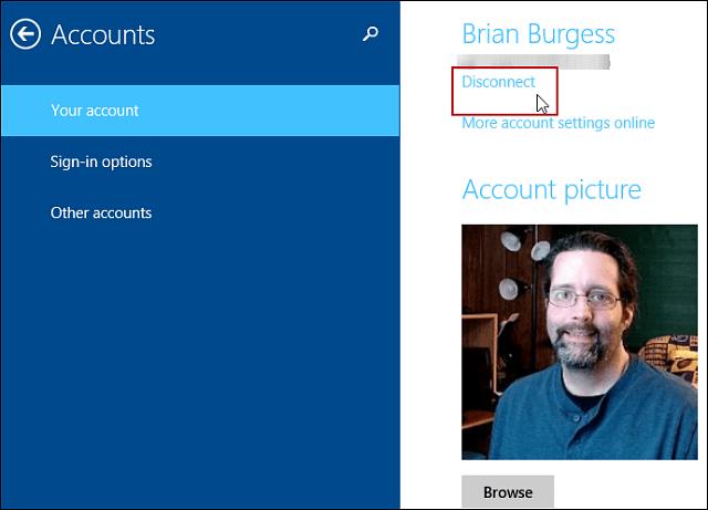 Accounts Windows 8.1