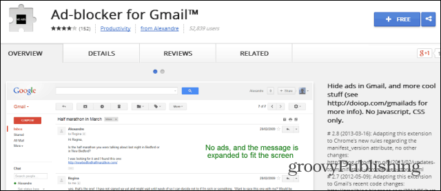 Gmail ad blocker