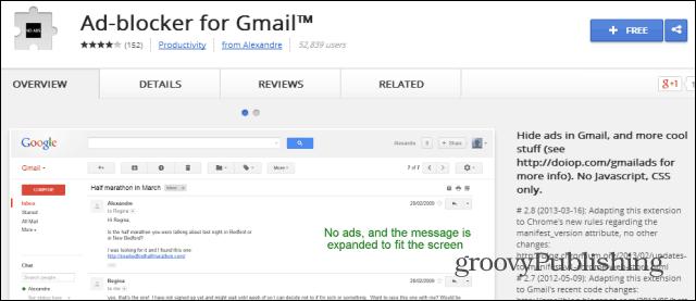Gmail ad blocker