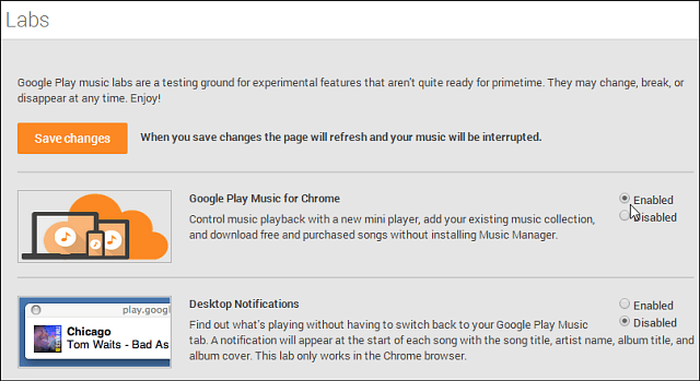 Google Play Music for Chrome