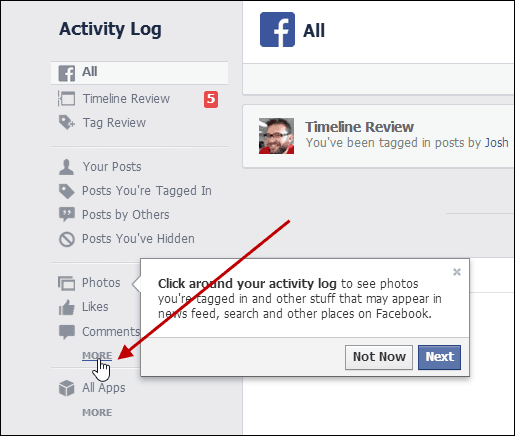 How to delete your facebook search history from activity log that will open more activity categories on the list from the bottom of the extended list click search ccuart Images