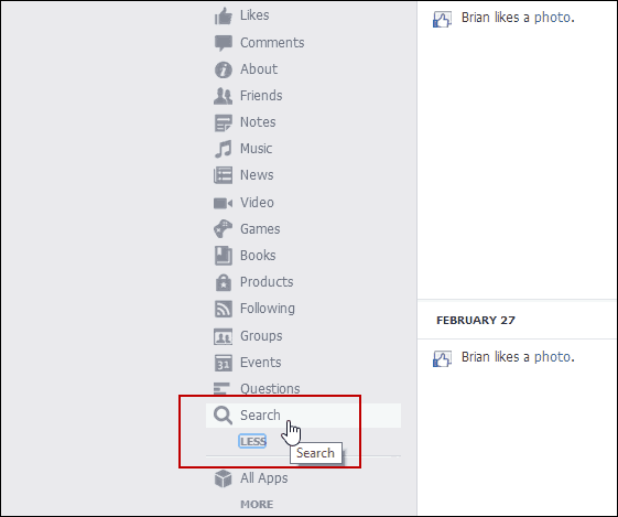 How to delete your facebook search history from activity log that give you a list of all of your search history remove searches by clicking the block icon and then remove ccuart Choice Image