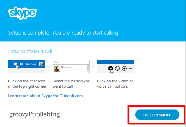 Skype HD Outlook installed plugin get started