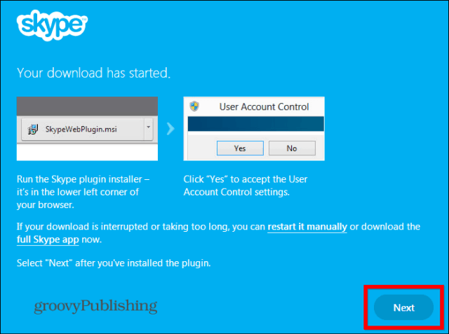 Skype HD Outlook installed plugin