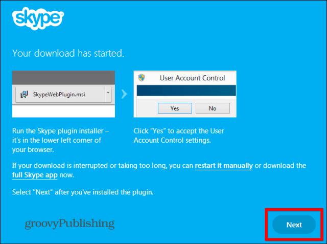 Skype HD Outlook installed plugin
