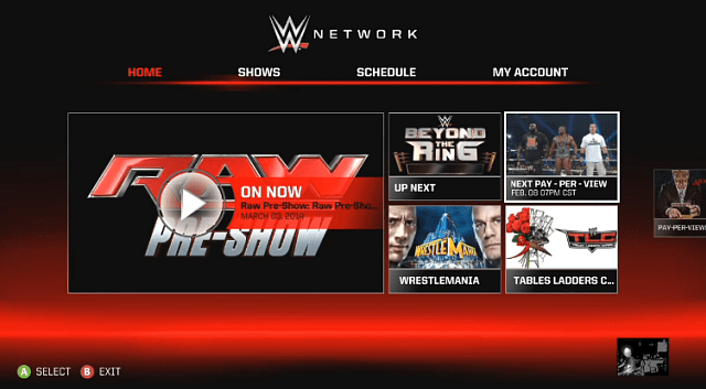 WWE Network Xbox 360