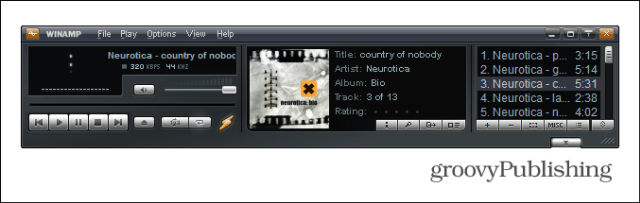winamp artwork playing
