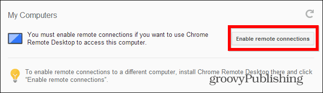 Chrome Remote Desktop PC get started