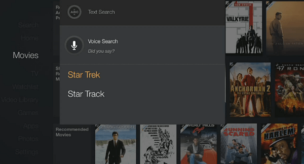 Fire TV Voice Search UI