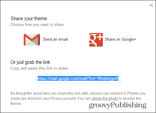 Gmail Custom Themes share your theme link