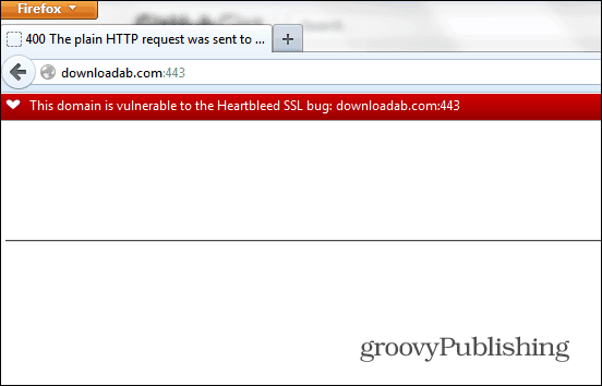 Heartbleed extension Firefox