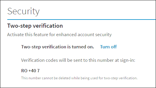 Linkedin privacy turn on two-step verification oon