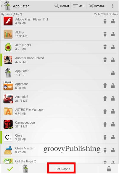 App Eater list view
