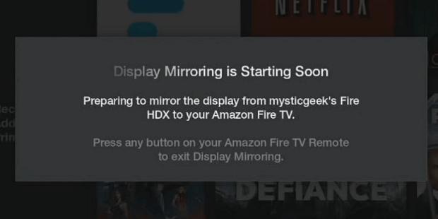 Display Mirroring Starting