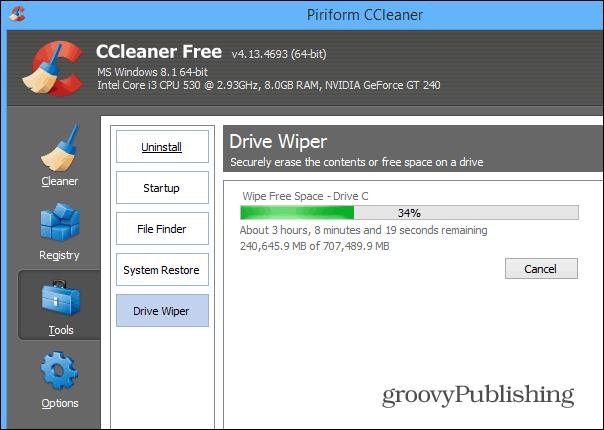 Drive Wiper CCleaner