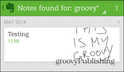 Evernote handwriting search