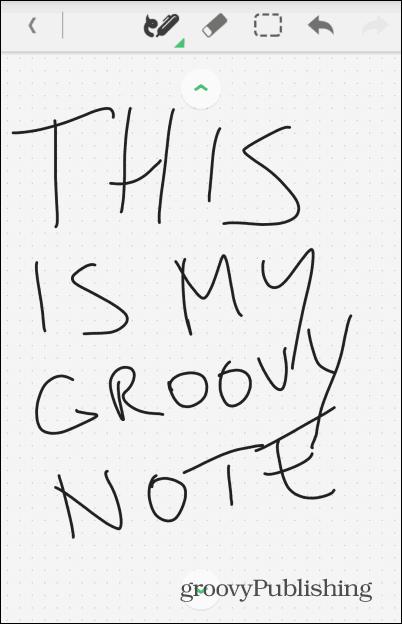 Evernote handwriting written
